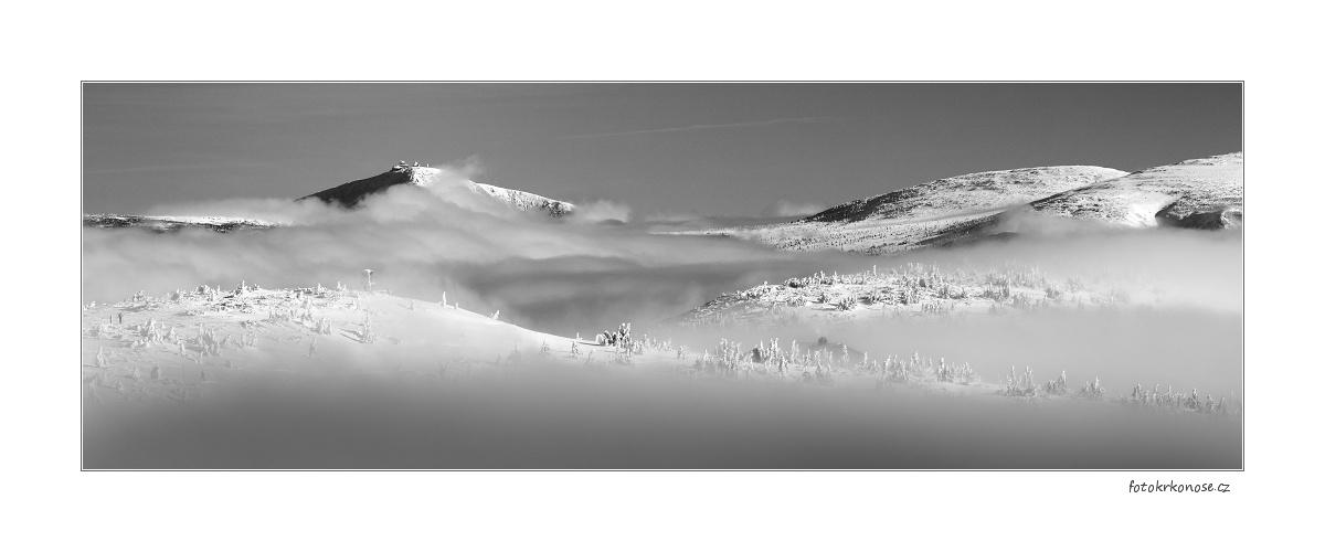Krkonošské zimní panorama